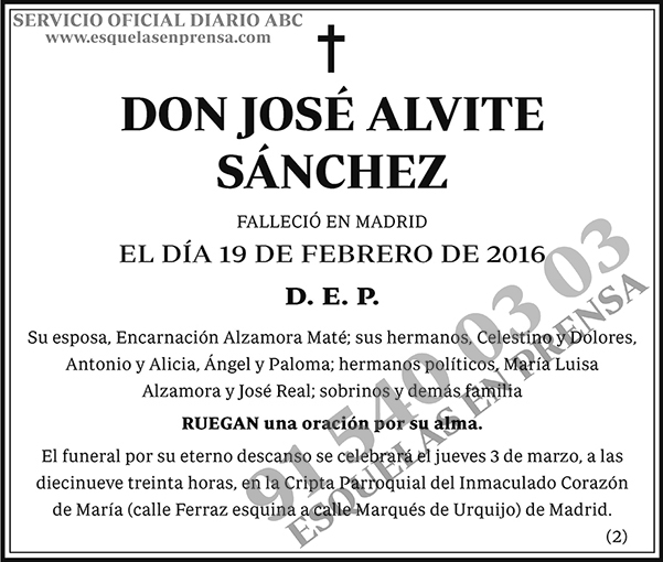 José Alvite Sánchez